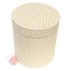 Коробки круглые крафт с рис. 23*21 Горох тонировка белый