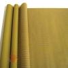 Крафт бумага двухсторонняя. Горох тонировка ВОЛНА желтый на коричневом 70 см х 8,5 м