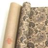 Крафт бумага глянц.вл. Европа ОГУРЦЫ черный цв. на коричневом фоне 70 см х 8,5 м