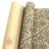 Крафт бумага глянц.вл. Европа РИШЕЛЬЕ черный цв. на коричневом фоне 70 см х 8,5 м