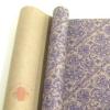 Крафт бумага глянц.вл. Европа РИШЕЛЬЕ темно-фиолетовый цв. на коричневом фоне70 см х 8,5 м