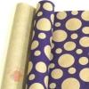 Крафт бумага глянц.вл. Европа Шары большие фиолетовый цв. на коричневом фоне 70 см х 8,5 м