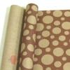 Крафт бумага глянц.вл. Европа Шары большие коричневый цв. на коричневом фоне 70 см х 8,5 м