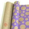 Крафт бумага глянц.вл. Европа Шары большие сиреневый цв. на коричневом фоне 70 см х 8,5 м