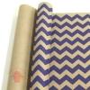 Крафт бумага глянц.вл. Европа ШЕВРОН темно-фиолетовый цв. на коричневом фоне 70 см х 8,5 м
