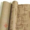 Крафт бумага глянц.вл. Европа Штрихи коричневый цв. на коричневом фоне 70 см х 8,5 м
