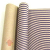 Крафт бумага глянц. вл. Европа ВОЛНА темно-фиолетовый цв. на коричневом фоне 70 см х 8,5 м