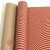 Крафт бумага глянц. вл. Европа ВОЛНА красный цв. на коричневом фоне 70 см х 8,5 м