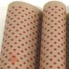 Крафт бумага Горох красный на коричневом фоне 70 см х 8,5 м