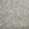Крафт бумага Серпантин белый на коричневом фоне 70 см х 8,5 м