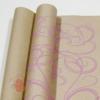 Крафт бумага Серпантин розовый на коричневом фоне 70 см х 8,5 м