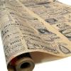 Крафт бумага Винтажная газета черная на коричневом фоне