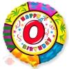 Круг Цифра 0 С днем рождения