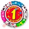 Круг Цифра 1 С днем рождения