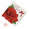 Мини-открытка Поздравляю, красная роза 7 х 7 см