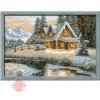 Набор для вышивания крестом Зимний пейзаж 38*26 см