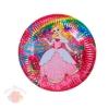 Набор голографических тарелок С днем рождения принцесса