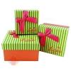 Набор коробок 3 в 1 Четкий подарок Песочно-Аквамариновый квадрат