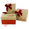 Набор коробок 3 в 1 Четкий подарок Песочно-Красный квадрат