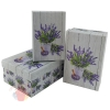 Набор коробок 3 в 1 Лаванда прямоугольник 18*12*7 см; 21*14*8,5 см; 23*16*9,5 см