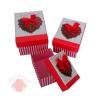 Набор коробок 3 в 1 Пламя любви с бантом прямоугольник