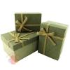 Набор коробок 3 в 1 Рустик Серый с бантом прямоугольник