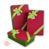 Набор коробок 3 в 1 Сладкая любовь Красный с зеленым бантом прямоугольник
