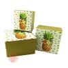 Набор коробок 3 в 1 Сочный ананас / квадрат