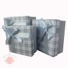 Набор коробок 3 в 1 Стильный принт Светло-серый с бантом прямоугольник