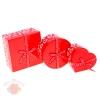 Набор коробок 3 в 1 микс красные