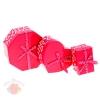 Набор коробок 3 в 1 микс: розовые