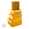 Набор коробок 4 в 1 квадрат Питон голография золото
