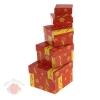 Набор коробок 5 в 1 Красный зимний