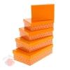 Набор коробок 5 в 1 Лютики цвет оранжевый