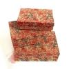 Набор коробок из 3х Париж с каймой цв крас-черн. на коричневом