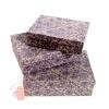 Набор коробок из 3х Ришелье цв, фиолетовый на коричневом