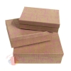 Набор коробок из 3х Штрихи цв.розовый  на коричневом