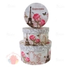 Набор коробок картон 3 в 1 КРУГ Французские розы