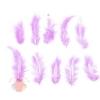 Набор перьев для декора 10 шт, размер 10*2 цвет розовый