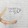 Наклейка на полимерные шары Рождение малыша, цвет серебристый, 14*28 см