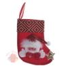 Носок для подарка Снеговик красный узор 13 см × 16 см