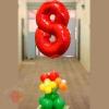 Оформление шарами на 8 марта вариант 4