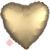Фольгированный шар Сердце Золото Сатин Люкс в упаковке / Satin Luxe Gold Sateen Heart S15