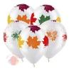 Осенние листья Разноцветные, Прозрачный Кристал 5 ст. (100 шт.)