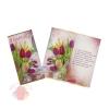Открытка 8 Марта! тюльпаны 21 см × 21 см