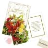 Открытка Любимой бабушке, тиснение, лилии 12 * 18 см