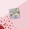 Открытка‒мини С Днём Влюбленных, макаруны, 7 × 7 см