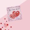 Открытка‒мини С Днём Влюбленных, сердечки, 7 × 7 см
