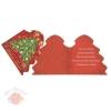 Открытка-мини С Новым годом Красный фон елка