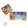 Открытка-мини С Новым Годом! щенок, подарки, глиттер  8 см × 10 см
